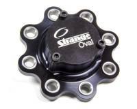 Strange Oval - Strange 8-Bolt Drive Flange Wide 5 Bolt Pattern 24 Spline Steel Spline - Aluminum Cap