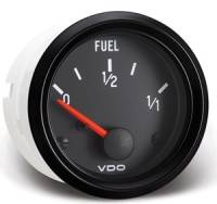 Gauges and Data Acquisition - VDO - VDO Cockpit Fuel Level Gauge 0-90 ohm Electric Analog - Short Sweep