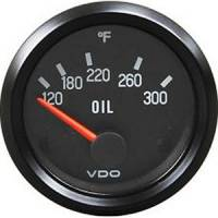 VDO - VDO Cockpit Oil Temperature Gauge 120-300 Degree F Electric Analog - Short Sweep