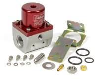 "Edelbrock - Edelbrock 35-90 psi Fuel Pressure Regulator Inline 10 AN Inlets/Outlet 6 AN Return - 1/8"" NPT Port - Red Anodize"