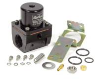 "Air & Fuel System - Edelbrock - Edelbrock 35-90 psi Fuel Pressure Regulator Inline 10 AN Inlets/Outlet 6 AN Return - 1/8"" NPT Port - Black Anodize"