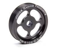 """Power Steering Pulleys - Serpentine Power Steering Pulleys - Jones Racing Products - Jones Racing Products Serpentine Power Steering Pulley 6 Rib Press-On 4-1/2"""" Diameter - Aluminum"""
