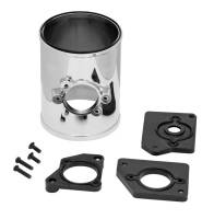 """Exhaust System - Spectre Performance - Spectre Performance 3"""" Diameter Mass Air Meter Housing 3 MAFS Pads Included Plastic Chrome - Kit"""