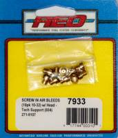 Exhaust System - AED Performance - AED Performance Blank Carburetor Air Bleed 10-32 Threads Brass Holley Style Carburetors - Set of 10