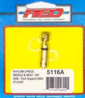 Exhaust System - AED Performance - AED Performance High Flow Bottom Feed Needle and Seat Adjustable 0.130 Orifice Viton - Holley/Quick Fuel Carburetors