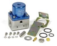 Recently Added Products - Edelbrock - Edelbrock 5-10 psi Fuel Pressure Regulator Inline 10 An Inlets/Outlet 6 AN Return - Bypass - Blue Anodize