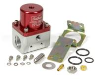 Air & Fuel System - Edelbrock - Edelbrock 5-10 psi Fuel Pressure Regulator Inline 10 An Inlets/Outlet 6 AN Return - Bypass - Red Anodize