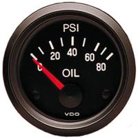 VDO - VDO Cockpit Oil Pressure Gauge 0-80 psi Electric Analog - Short Sweep