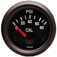 Recently Added Products - VDO - VDO Cockpit Oil Pressure Gauge 0-80 psi Electric Analog - Short Sweep