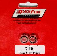 Exhaust System - Quick Fuel Technology - Quick Fuel Technology O-Ring Float Bowl Sight Plugs Clear Plastic Quick Fuel Carburetors - Pair
