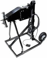 Wheel & Tire Tools - Tire Prep Stand - Allstar Performance - Allstar Performance Electric Tire Prep Stand 110V High Torque Cart/Foot Pedal/Motor/Wheels - 5 x 5/Wide 5 Wheels