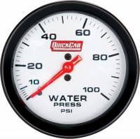 "Recently Added Products - QuickCar Racing Products - QuickCar Racing Products 0-35 psi Water Pressure Gauge Mechanical Analog 2-5/8"" Diameter - White Face"