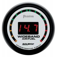 Recently Added Products - Auto Meter - Auto Meter Phantom Air-Fuel Ratio Gauge Wideband 10:1-17:1 AFR Electric - Digital
