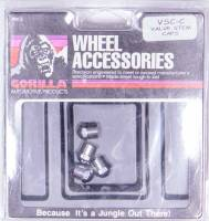 Wheels and Tire Accessories - Gorilla Automotive Products - Gorilla Automotive Hex Dome Valve Stem Cap Stainless Polished - Set of 4