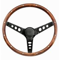 "Recently Added Products - Grant Steering Wheels - Grant Steering Wheels Classic Series Steering Wheel 13-1/2"" Diameter 3-Spoke 3-3/4"" Dish - Wood Grip"