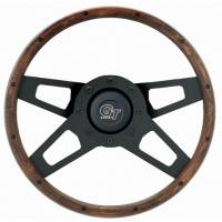"Recently Added Products - Grant Steering Wheels - Grant Steering Wheels Challenger Steering Wheel 13-1/2"" Diameter 4-Spoke Wood Grip - Steel"
