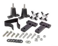 Off-Road Jacks and Components - Off-Road Jack Mounts - Hi-Lift Jack Company - Hi-Lift Jack Company Hood Mount Floor Jack Mount 2 Piece Stainless Hardware Aluminum - Black Anodize