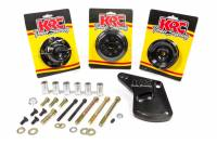 Serpentine Belt Drive Kits - Ford Serpentine Pulley Systems - KRC Power Steering - KRC Power Steering 6 Rib Serpentine Pulley Kit Billet Aluminum Black Anodize Small Block Ford - Kit