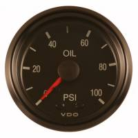 "Gauges and Data Acquisition - VDO - VDO Cockpit Oil Pressure Gauge 0-100 psi Mechanical Analog - 2-1/16"" Diameter"