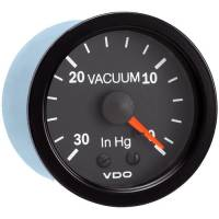 "Analog Gauges - Vacuum Gauges - VDO - VDO Vision Vacuum Gauge 0-30"" HG Mechanical Analog - 2-1/16"" Diameter"