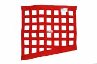 "Ribbon Window Nets - Drag Window Nets - RJS Racing Equipment - RJS Racing Equipment SFI-27.1 Window Net 1"" Webbing Triangle Red - Drag Race"
