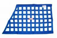 "Ribbon Window Nets - Angled Ribbon Window Nets - RJS Racing Equipment - RJS Ribbon Grand National Window Net - Blue - 23"" x 18"" x 32"""