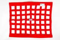 "Window Nets - Ribbon Window Nets - RJS Racing Equipment - RJS Ribbon Window Net - Red - 18"" x 24"""