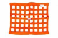 "Ribbon Window Nets - 18"" x 24"" Ribbon Window Nets - RJS Racing Equipment - RJS Ribbon Window Net - Orange - 18"" x 24"""
