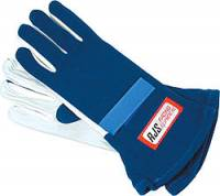 RJS Racing Gloves - RJS Double Layer Gloves - $54.99 - RJS Racing Equipment - RJS Nomex® 2 Layer Driving Gloves - Blue - X-Large