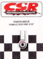 "Steel Rod Ends - 10-32 Female Steel Rod Ends - CSR Performance Products - CSR Performance 3/16"" Female Rod End"