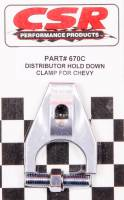 Magnetos Parts & Accessories - Magneto Hold Down Clamps - CSR Performance Products - CSR Performance Distributor Hold Down Clamp - SB Chevy, BB Chevy, 4.3 V6 - Clear