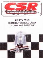 Distributors Parts & Accessories - Distributor Hold-Downs & Clamps - CSR Performance Products - CSR Performance Ford V8 Distributor Hold Down Clamp - Clear