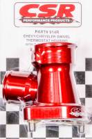CSR Performance Products - CSR Performance 360° Swivel Thermostat Housing w/ Filler Neck - Chevy V8 - 11/2 Hose - Red