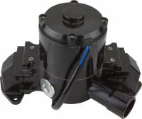 "Cooling & Heating - CVR Performance Products - CVR Electric Water Pump 1-13/16 on O-Ring Female Inlet Port 6.00"" Height Aluminum - Black Anodize"