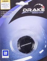 Drake Automotive Group - DRAKE AUTOMOTIVE GROUP Camaro Logo Washer Fluid Cap Aluminum Black Anodize Chevy Camaro 2010-14 - Each