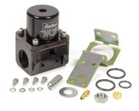 Air & Fuel System - Edelbrock - Edelbrock 5-10 psi Fuel Pressure Regulator Inline 10 An Inlets/Outlet 6 AN Return - Bypass - Black Anodize
