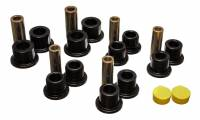 Leaf Springs Accessories - Leaf Spring Bushings - Energy Suspension - Energy Suspension Leaf Spring Bushing Set - Black