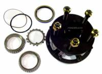 "Hubs & Bearings - 5 x 5"" Hubs - Frankland Racing Supply - Frankland Grand National Steel Rear Hub Kit"