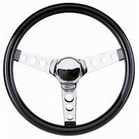 """Street Performance / Tuner Steering Wheels - Grant Classic Steering Wheels - Grant Steering Wheels - Grant Classic Cruisin' Steering Wheel - 12 1/2"""" - Black / Chrome"""