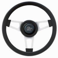"""Street Performance / Tuner Steering Wheels - Grant Challenger Series Steering Wheels - Grant Steering Wheels - Grant Challenger Steering Wheel - 13 3/4"""" - Black / White"""