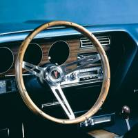 """Street Performance / Tuner Steering Wheels - Grant Classic Steering Wheels - Grant Steering Wheels - Grant Classic Nostalgia Pontiac Steering Wheel - 15"""" - Walnut"""