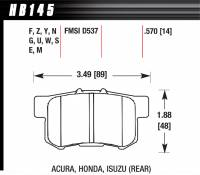 Recently Added Products - Hawk Performance - Hawk Performance HPS Compound Brake Pads High Torque Front Acura/Honda® 1986-2014 - Set of 4
