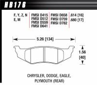 Brake Pad Sets - Street Performance - 1995/2006 Chrysler D415/D512/D559/D641/D658/D759/D782 Pads - Hawk Performance - Hawk Disc Brake Pads - HPS Performance Street w/ 0.614 Thickness