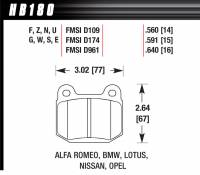 Recently Added Products - Hawk Performance - Hawk Performance HP Plus Compound Brake Pads Wide Temperature Range Front Mitsubishi/Subaru/Nissan/Infiniti 2002-14 - Set of 4