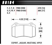 Brake Pad Sets - Street Performance - 2010-12 Camaro / 2006-10 Charger/Challenger SRT-8 / Chrysler 300 D592/D1053 Pads (D1053) - Hawk Performance - Hawk Disc Brake Pads - Performance Ceramic w/ 0.570 Thickness
