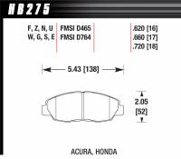 Recently Added Products - Hawk Performance - Hawk Performance HPS Compound Brake Pads High Torque Front Acura/Honda® 1990-2014 - Set of 4