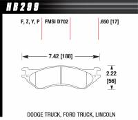 Dodge Ram 2500HD/3500 Brakes - Dodge Ram 2500HD/3500 Disc Brake Pads - Hawk Performance - Hawk Disc Brake Pads - SuperDuty w/ 0.650 Thickness