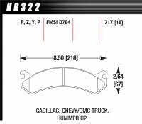 Chevrolet 2500/3500 - Chevrolet 2500/3500 Brakes - Hawk Performance - Hawk Disc Brake Pads - LTS w/ 0.717 Thickness
