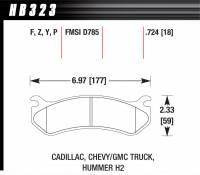 Brake Pad Sets - Truck - 2001-12 GM Truck D785 Pads (D785) - Hawk Performance - Hawk Disc Brake Pads - HPS Performance Street w/ 0.724 Thickness