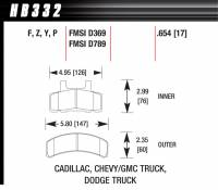 Chevrolet 2500/3500 - Chevrolet 2500/3500 Brakes - Hawk Performance - Hawk Disc Brake Pads - HPS Performance Street w/ 0.654 Thickness